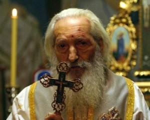 Патријарх Павле са крстом