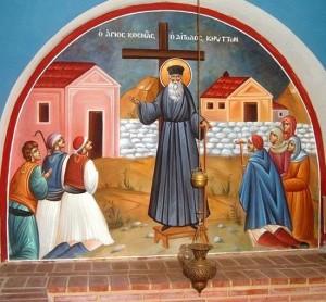 Свети Козма Етолски проповеда
