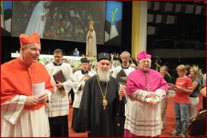 Maria Namen-Feier, RSK; Patriarch Irinej Gavrilovic, Kardinal Christoph Schönborn, Peter S. Zurbriggen